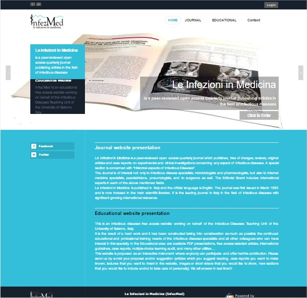 Click per accedere al sito INFEZMED - rivista di infettivologia